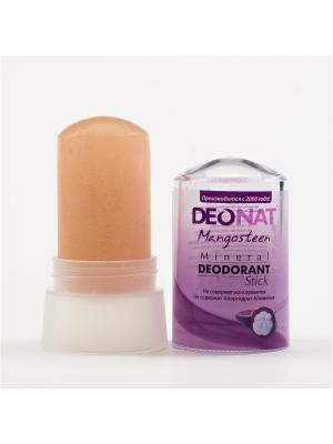Минеральный 100 % натуральный дезодорант Кристалл ДеоНат (DeoNat), стик с мангостином, 60 г. Цвет: розовый