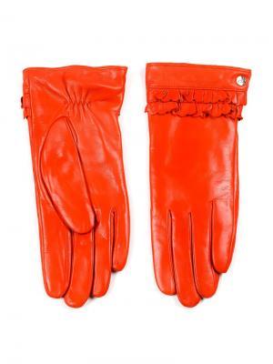 Перчатки Piero. Цвет: оранжевый