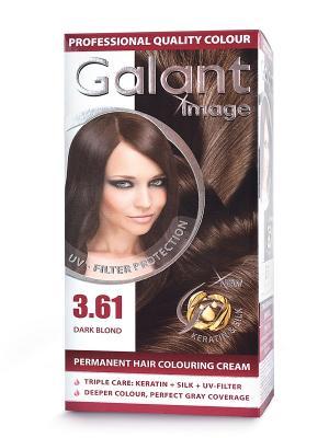 Cтойкая крем-краска для волос GALANT 3.61 темно-русый, 115 мл., (Болгария) Image. Цвет: зеленый