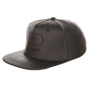 Бейсболка с прямым козырьком  Riddled Strapback Black TrueSpin. Цвет: черный