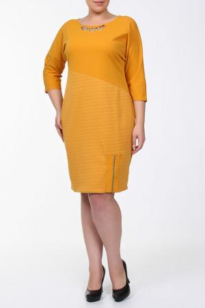 Платье QNEEL Q'NEEL. Цвет: желтый