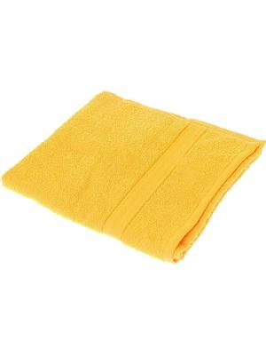 Махровое полотенце желтый 50*90-100% хлопок, в коробке УзТ-ПМ-112-08-21к Aisha. Цвет: желтый