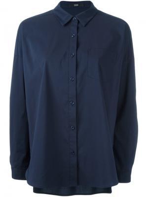 Классическая рубашка Steffen Schraut. Цвет: синий