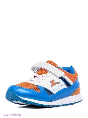 Полуботинки школьные кроссовые Зебра. Цвет: голубой