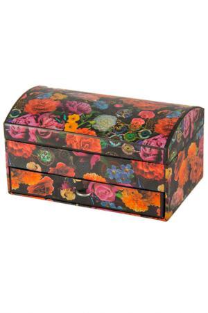 Шкатулка для украшений Русские подарки. Цвет: черный, оранжевый, розовый, зе