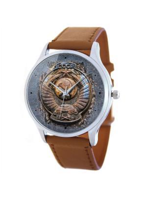 Дизайнерские часы Дедушкины Tina Bolotina. Цвет: темно-синий,коричневый