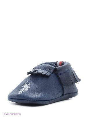 Пинетки U.S. Polo Assn.. Цвет: темно-синий, красный