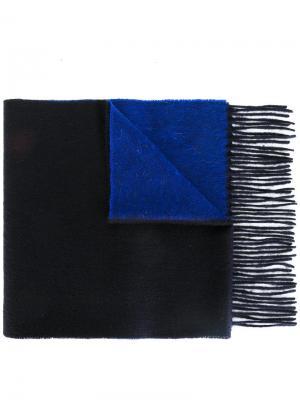 Двухцветный шарф Ps By Paul Smith. Цвет: синий