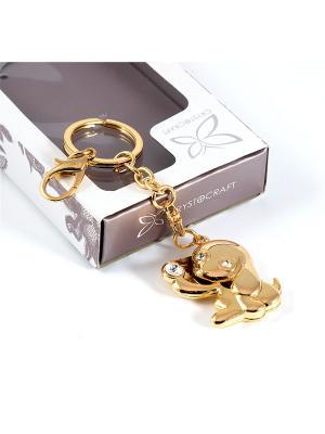 Брелок Собачка Русские подарки. Цвет: золотистый