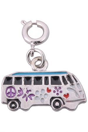 Подвеска Автобус Хиппи CHI-CHI. Цвет: серебряный, фиолетовый