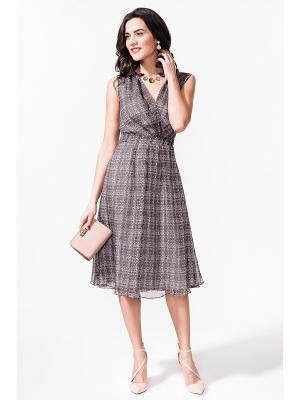 Платье La vida rica. Цвет: серый, розовый