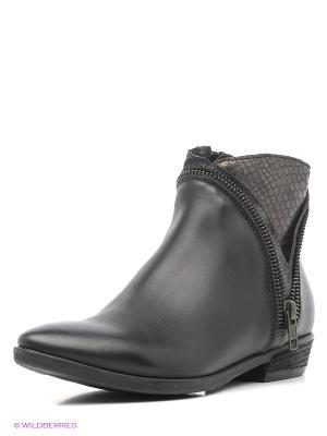 Ботинки KHRIO. Цвет: черный, серебристый