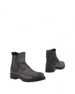 Полусапоги и высокие ботинки ERNESTO DOLANI. Цвет: стальной серый