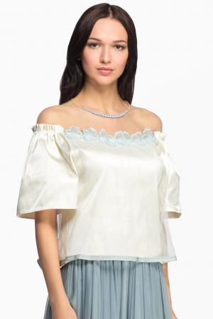 Блуза из шелка 148780 Iya Yots. Цвет: бежевый