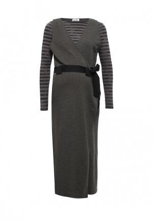 Платье Proud Mom. Цвет: серый