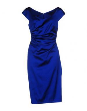 Платье до колена TALBOT RUNHOF. Цвет: ярко-синий
