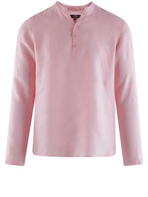 Рубашка Oodji. Цвет: бледно-розовый