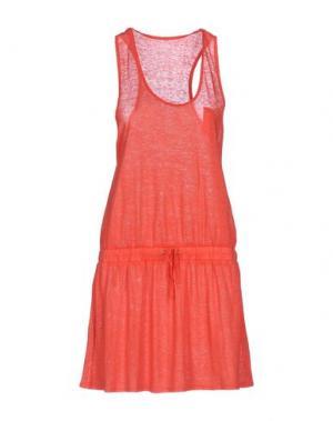 Короткое платье FINE COLLECTION. Цвет: коралловый