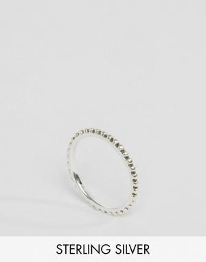 Fashionology Серебряное кольцо с шариковой отделкой. Цвет: серебряный
