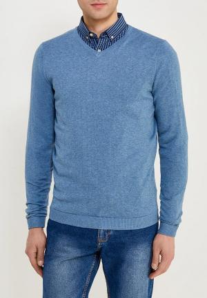 Пуловер Jack & Jones. Цвет: голубой