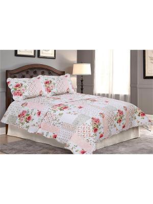Покрывало Прованс 2 спальное с наволочкой Amore Mio. Цвет: розовый, белый