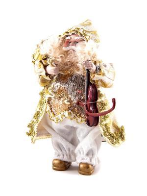 Игрушка новогодняя Санта Клаус Русские подарки. Цвет: белый