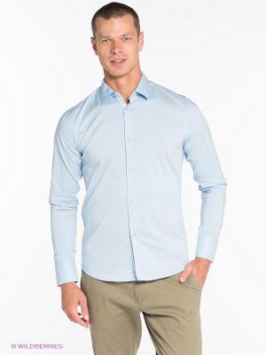 Рубашка OUTFITTERS NATION. Цвет: светло-голубой