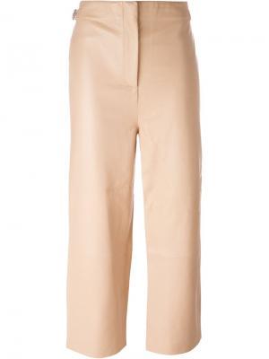 Укороченные брюки Aalto. Цвет: телесный