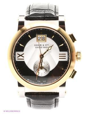 Часы наручные HAAS & Cie SFMH 001 YBA. Цвет: золотистый, черный, серебристый
