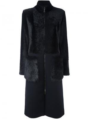 Пальто на молнии Drome. Цвет: чёрный