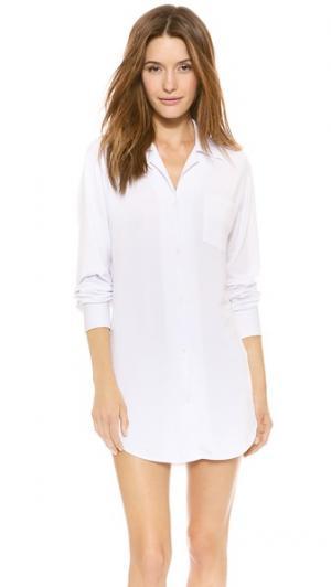 Ночной топ-сорочка Bop Basics. Цвет: белый