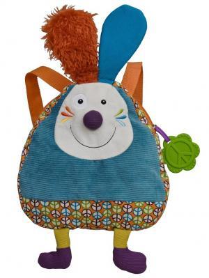Рюкзачок Кролик Джеф Ebulobo. Цвет: голубой, золотистый, оранжевый