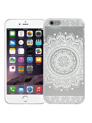 Чехол для iPhone 6/6s Мехенди Круг (белый) Kawaii Factory. Цвет: черный, белый