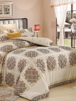 Комплект постельного белья, Винтаж Toппo, 1.5 спальный KAZANOV.A.. Цвет: бежевый