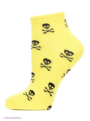 Носки, комплект 5 пар Alla Buone. Цвет: желтый