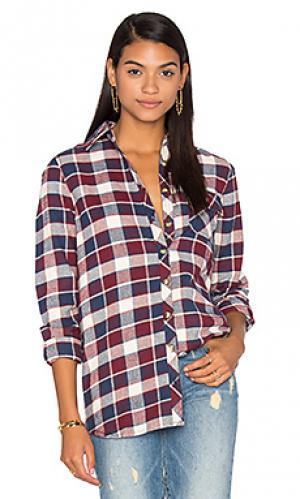 Рубашка emma Tolani. Цвет: вишня