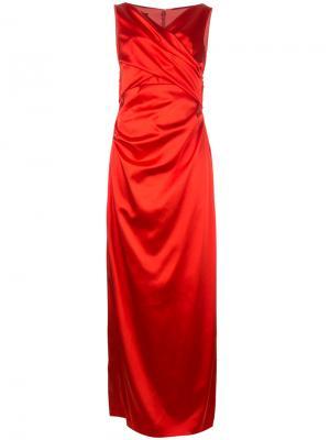 Вечернее платье Movie Talbot Runhof. Цвет: красный