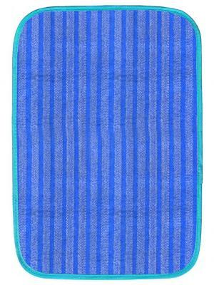 Коврик для дома полоска, 50х75 см IQ-KOMFORT. Цвет: синий