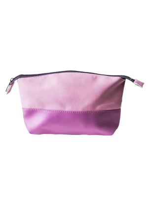 Косметичкаа L-16 Lavelle. Цвет: темно-фиолетовый, розовый