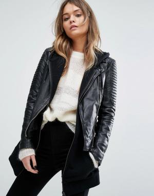 Goosecraft Байкерская куртка. Цвет: черный