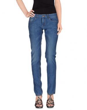 Джинсовые брюки PRAIO. Цвет: синий