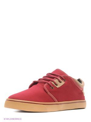 Кеды 4U. Цвет: бордовый
