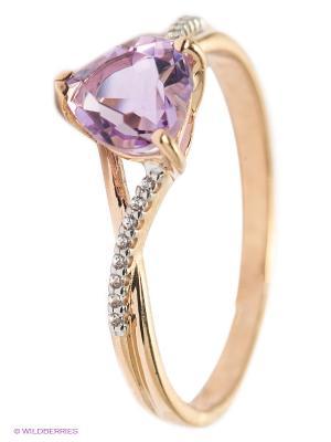 Кольцо SOKOLOV. Цвет: фиолетовый, золотистый