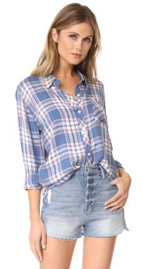 Рубашка на пуговицах Hunter RAILS. Цвет: небесный/белый/нарцисс