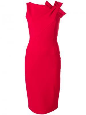 Приталенное платье миди Chiara Boni La Petite Robe. Цвет: красный