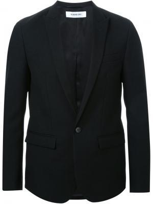 Однобортный пиджак-смокинг Hl Heddie Lovu. Цвет: чёрный