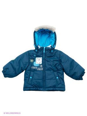 Куртка Baby Club. Цвет: темно-синий, голубой