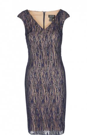 Платье Basix Black Label. Цвет: темно-синий