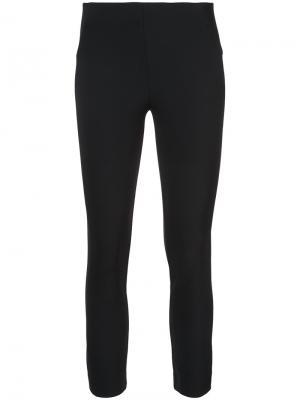 Skinny cropped trousers Veronica Beard. Цвет: чёрный