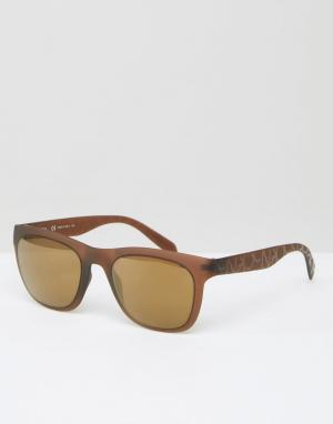 Calvin Klein Солнцезащитные очки CK Premium. Цвет: коричневый